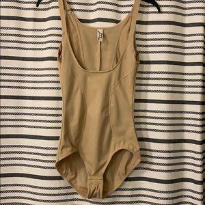 NWOT Maidenform Nude Open Bust Body Shaper